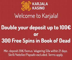 Latest bonus from Karjala Kasino