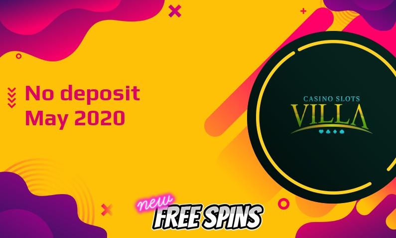 Latest no deposit bonus from Casino Slots Villa 2nd of May 2020