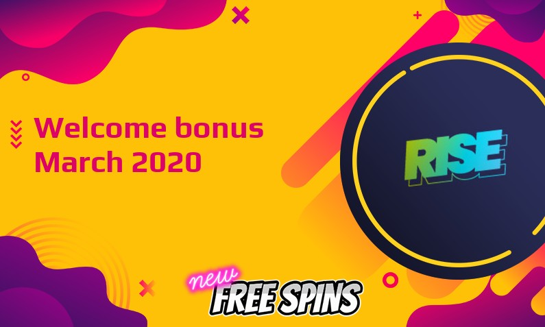 Latest Rise Casino bonus March 2020, 20 Freespins
