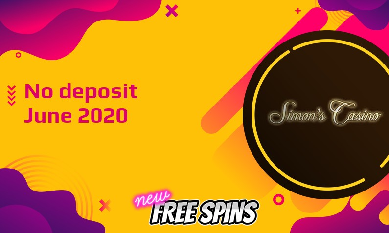 Latest Simons Casino no deposit bonus, today 25th of June 2020