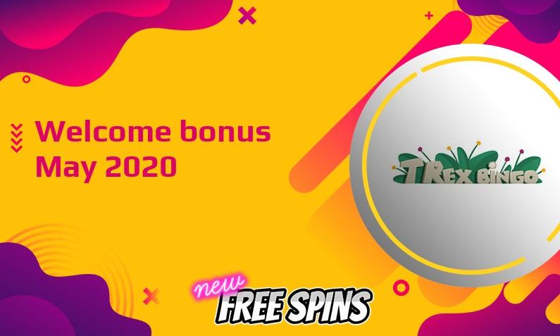 Latest T-Rex Bingo Casino bonus May 2020