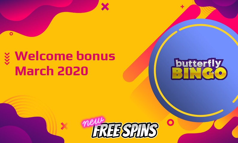 New bonus from Butterfly Bingo Casino March 2020, 20 Free spins