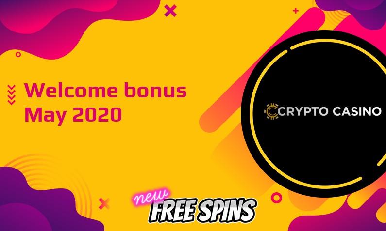 New bonus from CryptoCasino May 2020
