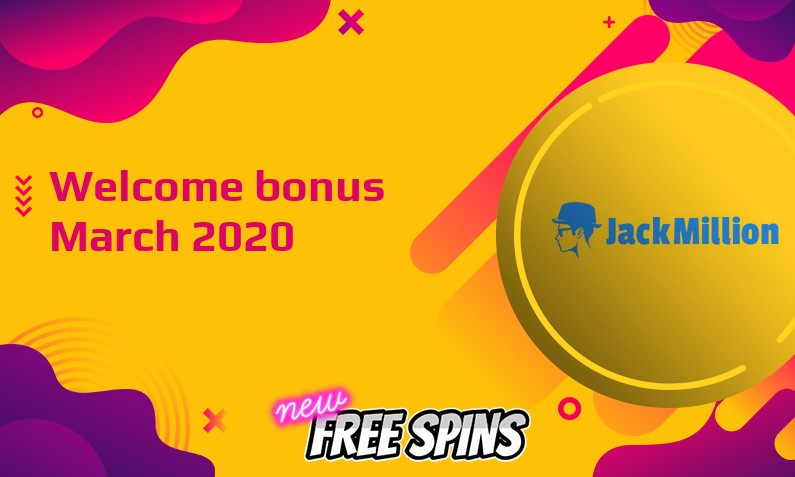 New bonus from JackMillion March 2020, 50 Extraspins