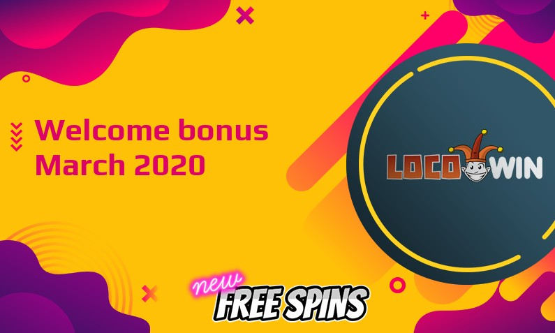 New bonus from Locowin Casino March 2020, 100 Spins