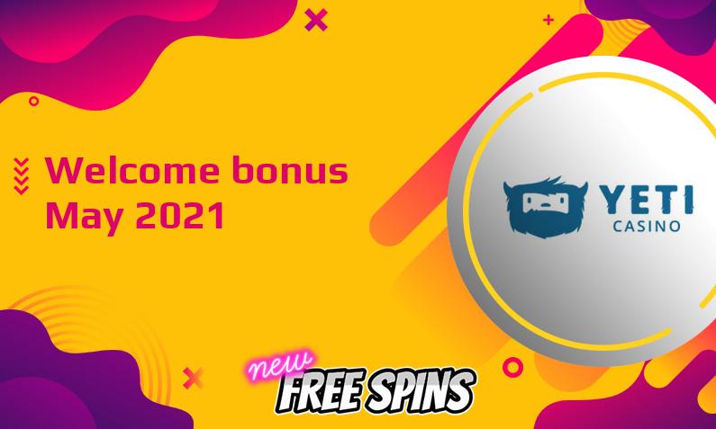 New bonus from Yeti Casino May 2021, 77 Bonus spins