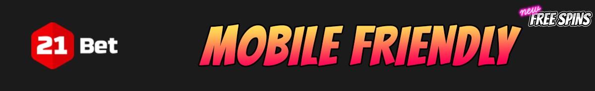 21Bet Casino-mobile-friendly