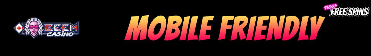 Beem Casino-mobile-friendly