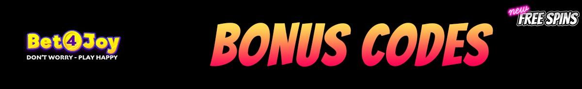 Bet4Joy-bonus-codes