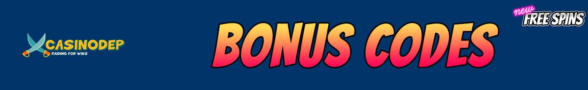 Casinodep-bonus-codes