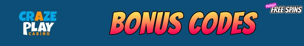 CrazePlay-bonus-codes