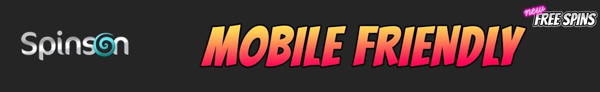 Spinson Casino-mobile-friendly